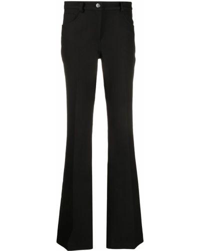 Классические хлопковые черные брюки с высокой посадкой Giambattista Valli