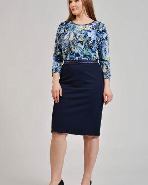 Синяя юбка из вискозы Rabe Collection