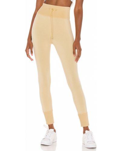 Ze sznurkiem do ściągania żółty bawełna spodnie-banany na gumce Selkie