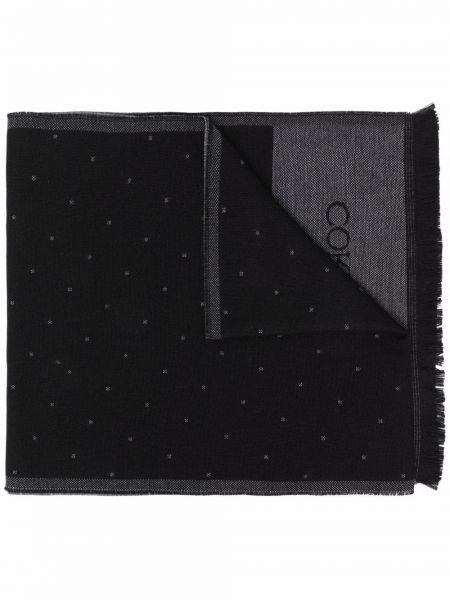 Черный разноцветный шарф Corneliani