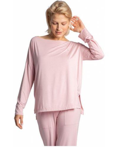 Bluzka z wiskozy - różowa Lalupa