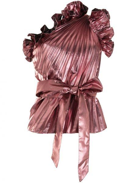 Хлопковый розовый топ без рукавов Tanya Taylor
