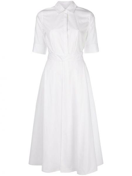 Расклешенное приталенное классическое платье мини на пуговицах Rosetta Getty