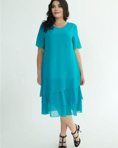 Шифоновое платье - бирюзовое All Posa