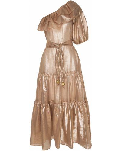 Платье с поясом на одно плечо с завышенной талией Lisa Marie Fernandez