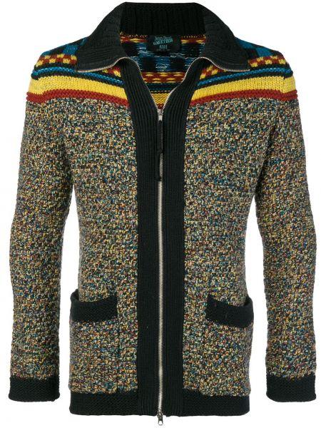 С рукавами шерстяной удлиненный пиджак с карманами Jean Paul Gaultier Pre-owned