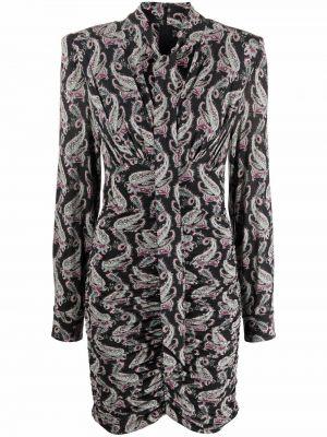 Платье макси длинное - черное Isabel Marant