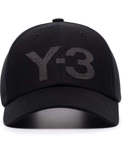 Bawełna bawełna czarny czapka z daszkiem z haftem Y-3