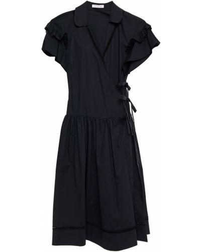Czarna sukienka kopertowa bawełniana Vivetta
