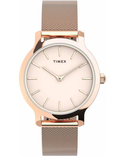 Różowy zegarek kwarcowy Timex