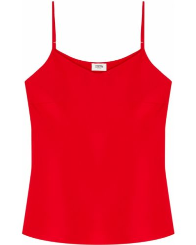 Шелковый красный открытый топ Izeta