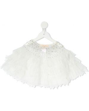 Biała narzutka bawełniana perły Tutu Du Monde