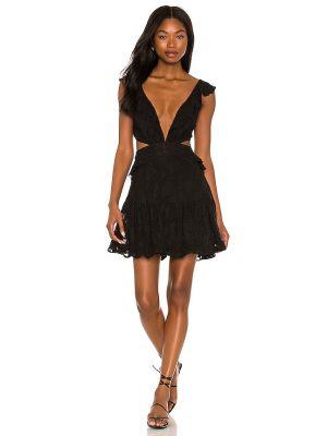 Платье мини с декольте - черное Karina Grimaldi