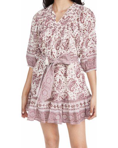 Платье мини на крючках с принтом с декольте Cleobella