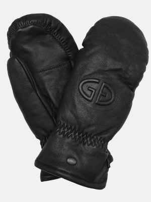 Czarny rękawiczki z prawdziwej skóry Goldbergh