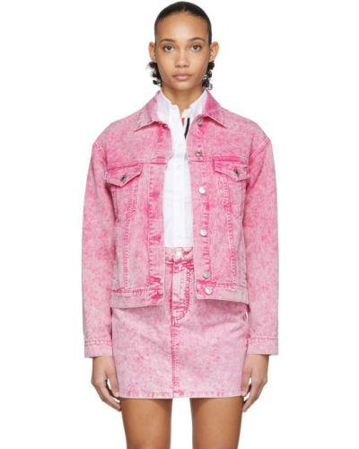 Кожаная куртка джинсовая длинная Msgm