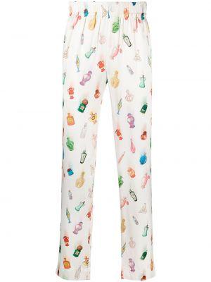 Шелковые брюки - белые Casablanca