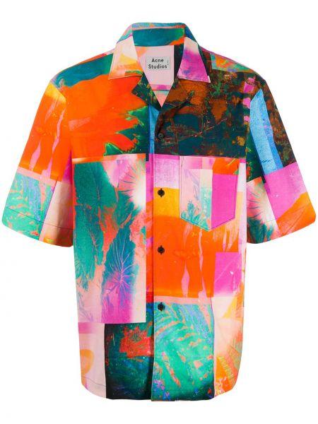 Koszula krótkie z krótkim rękawem lato z kołnierzem Acne Studios