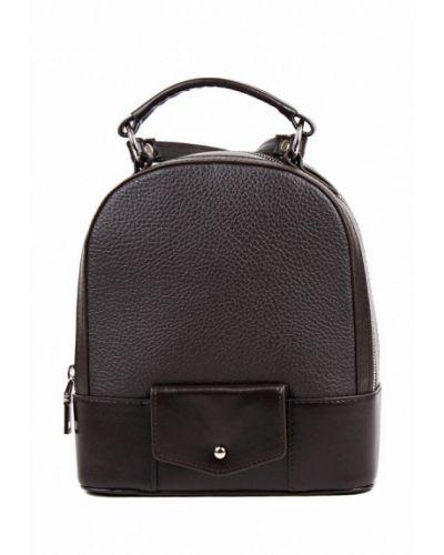 Коричневый городской рюкзак из натуральной кожи медведково