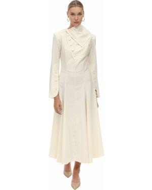 Приталенное платье миди с воротником с манжетами Matériel