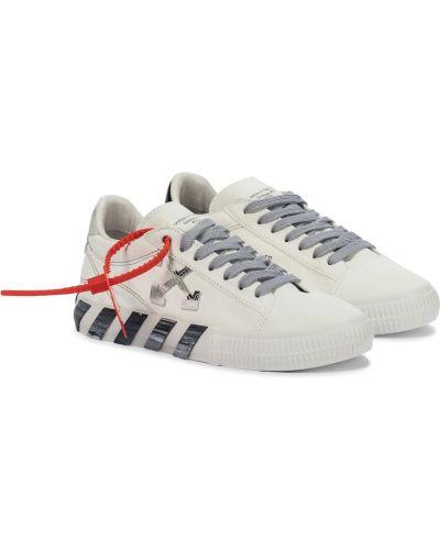 Кожаные белые кроссовки Off-white