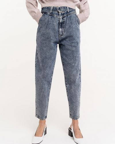 Синие джинсы с высокой посадкой классические Befree