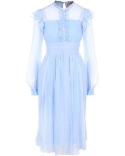 Платье шелковое с воротником No. 21