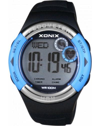 Czarny zegarek do biegania sportowy Xonix