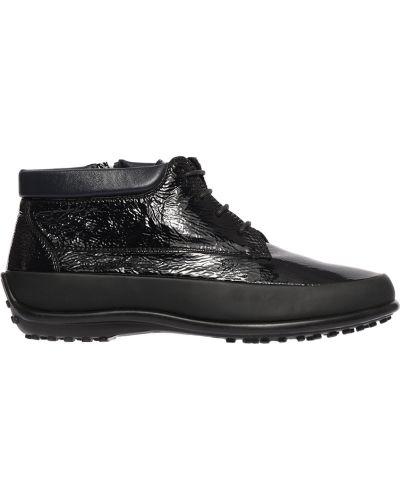 Кожаные ботинки осенние черные Pakerson
