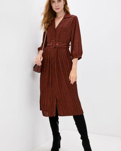 Бордовое трикотажное платье Selected Femme
