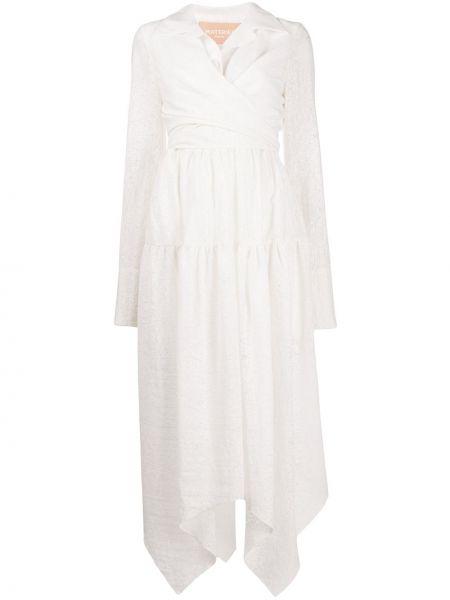 Белое платье с запахом на пуговицах из вискозы Matériel