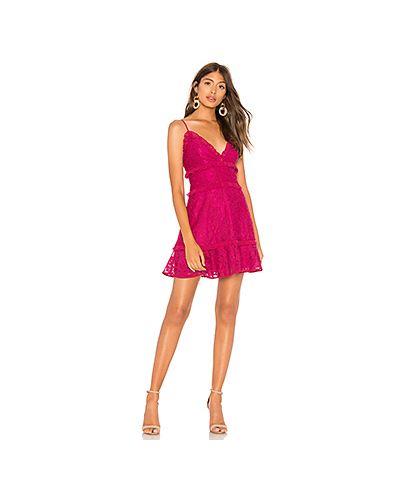 Платье мини розовое деловое Lovers + Friends