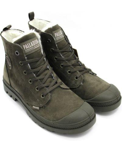 Зеленые ботинки из нубука с подкладкой Palladium