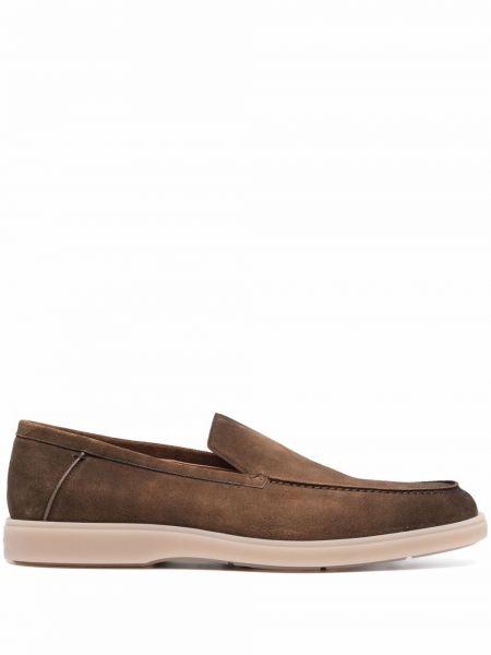 Коричневые резиновые туфли Santoni