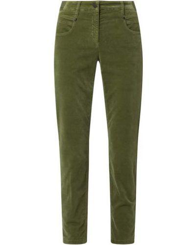 Zielone spodnie bawełniane Luisa Cerano