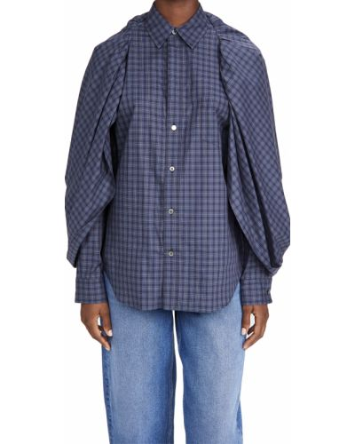 Хлопковая рубашка с длинными рукавами в клетку Toga Pulla