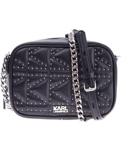 Кожаный сумка маленькая с отделениями Karl Lagerfeld