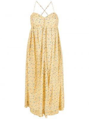 Желтое платье с принтом НК