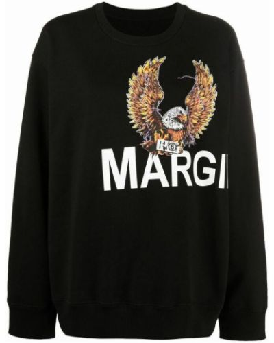 Bluza dresowa - czarna Mm6 Maison Margiela