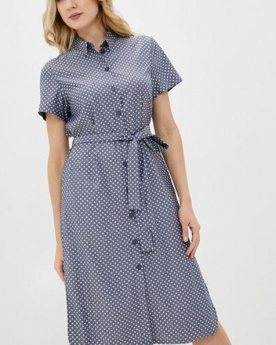 Серое платье-рубашка снежная королева