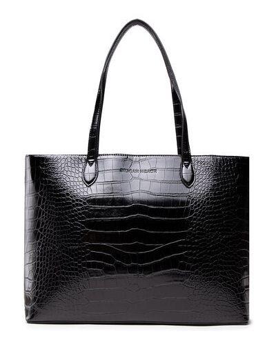 Czarna torba na zakupy Silvian Heach