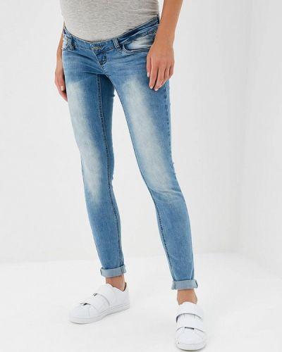Голубые джинсы с высокой посадкой Mama.licious