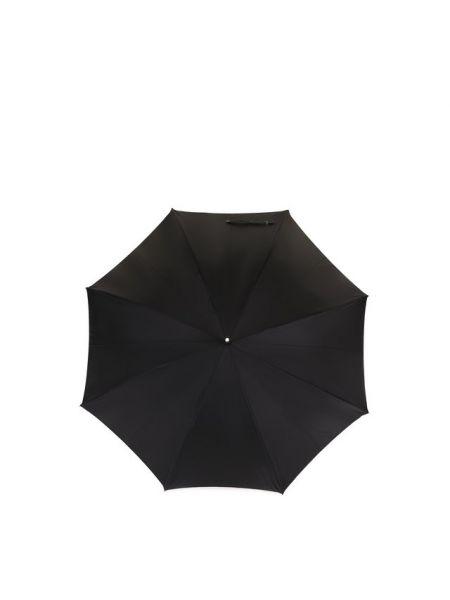 Кожаный зонт с декоративной отделкой Zilli