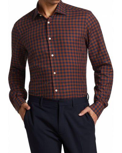 Хлопковая рубашка с длинным рукавом на пуговицах с воротником Saks Fifth Avenue