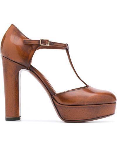 С ремешком коричневые туфли-лодочки на каблуке L'autre Chose