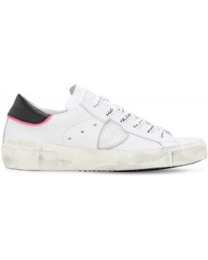 Кожаные кроссовки винтажные Philippe Model