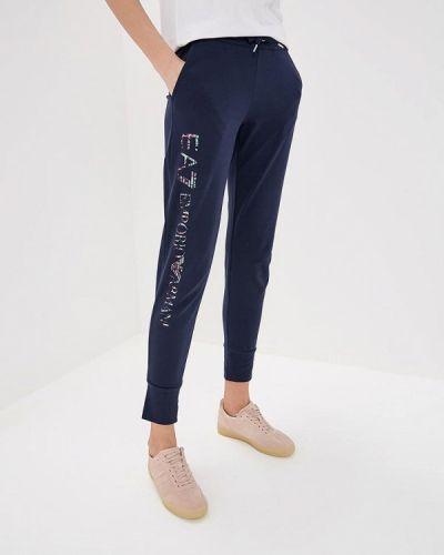 Синие спортивные брюки Ea7