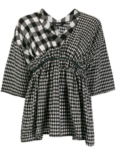 Блузка с короткими рукавами - черная Zucca