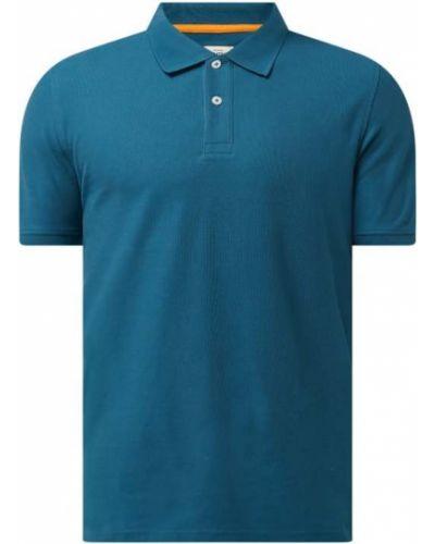 T-shirt bawełniana - turkusowa Montego