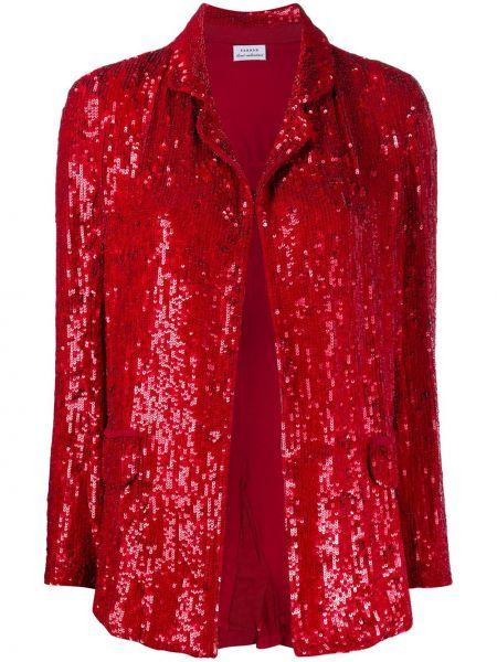 Красная куртка с пайетками с воротником с карманами P.a.r.o.s.h.